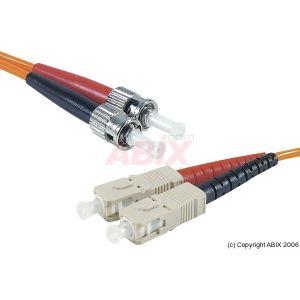 Abix 390150 - Cordon fibre optique ST/SC 62,5/125 5m