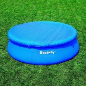 Bestway 58034 - Bâche 4 saisons pour piscine autoportante ronde Fast Set Ø 366 cm