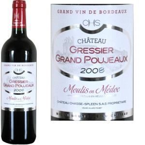 Château Gressier Grand Poujeaux 2008 - Vin rouge de Bordeaux (AOC Moulis)