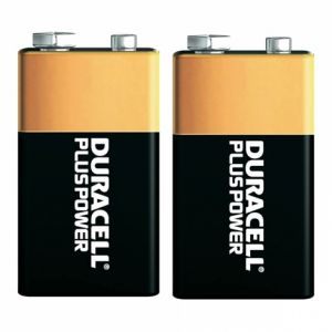 Duracell 2 piles 9V 6LR61 Plus Power