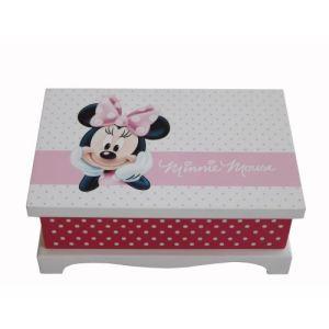 Boîte à bijoux Minnie en bois peint