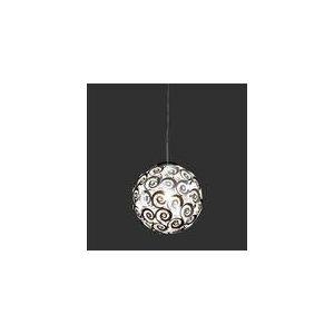 Suspension sphère 1 ampoule en chrome et aluminium (30 cm)