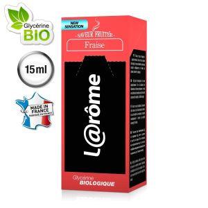 L@rôme E-Liquide saveur fraise V2 pour cigarette électronique rechargeable (Nicotine 0) 15 ml