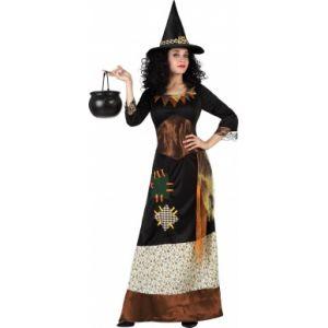 Atosa Déguisement sorcière des bois femme Halloween