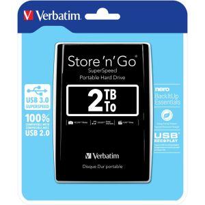"""Verbatim Store 'n' Go 3.0 2 To - Disque dur externe 2.5"""" USB 3.0"""