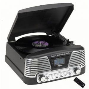Bigben Interactive TD79 - Tourne-disque Nostalgia radio CD, encodeur