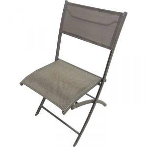 DCB Garden Chaise de jardin pliante en aluminium et textilène