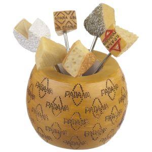 La Chaise Longue 6 piques à fromage dans meule en PVC