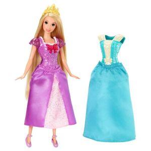 Mattel Dissey Princesses Raiponce avec robes Magiclip