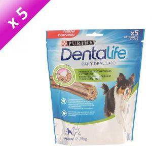 Purina Dentalife Medium (Lot de 5) - 5 bâtonnets pour chien adulte de 12-25 kg