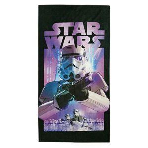 Sahinler Serviette de plage Star Wars avec Stormtrooper (75 x 150 cm)