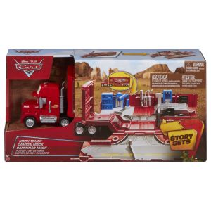 Mattel Cars - Voiture de circuit Mack transformable