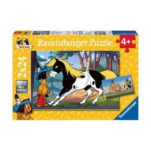 Ravensburger Yakari et Petit-Tonnerre - Lot de 2 puzzles de 24 pièces