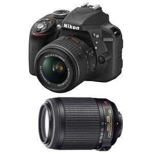 Nikon D3300 (avec 2 objectifs 18-55mm et 55-200mm)