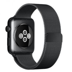Apple Bracelet Milanais noir sidéral pour Apple Watch 42 mm