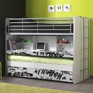 Vipack Furniture Lit superposé pour enfant 90 x 200 cm