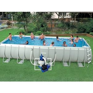 Piscine rectangulaire tubulaire comparer 193 offres for Piscine hors sol ultra frame 549 x 132 cm