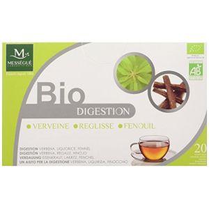 Laboratoires Mességué Infusettes digestion bio verveine, fenouil et réglisse - Boîte de 20 sachets
