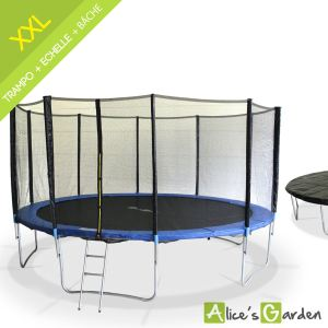 alice 39 s garden trampoline jupiter xxl 490 cm avec son filet son chelle et sa b che. Black Bedroom Furniture Sets. Home Design Ideas