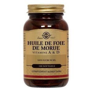 Solgar Huile de foie de morue norvégien - 100 gélules souples