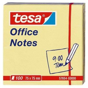 """Tesa Bloc-note repositionnables 100 feuilles cube """"Office notes"""" (75x75 mm)"""