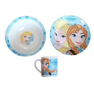 Coffret repas en porcelaine La Reine Des Neiges