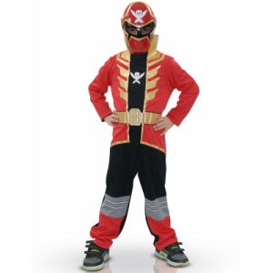 Déguisement Power Rangers Super Megaforce rouge (3 à 8 ans)