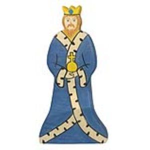 Holztiger Figurine Roi en bois