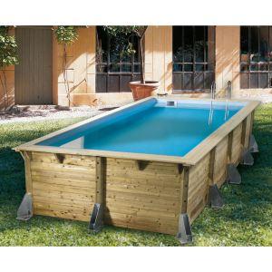Ubbink Azura - Piscine rectangulaire hors sol en bois 505 x 350 x 126 cm