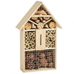 TecTake Hôtel à insectes en bois 48 cm