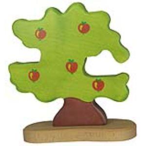 Holztiger Figurine Pommier pour oiseaux en bois