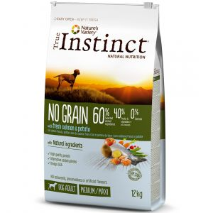 True instinct No Grain Medium Maxi Adult Salmon - Sac 2 kg