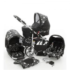 Lux4kids Rock Baby 3 en 1 - Poussette combinée avec siège auto