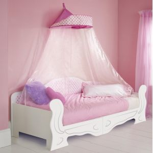 Worlds Apart Lit pour fille en bois avec ciel de lit Minnie Mouse (90 x 200 cm)