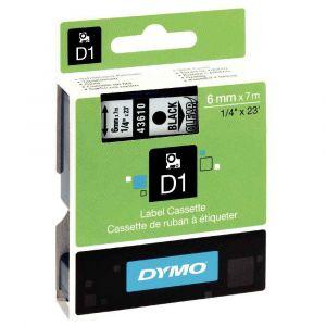 Dymo S0720770 - Cassette ruban étiquetée noir sur transparent 6 x 7 mm
