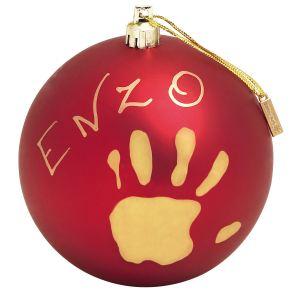Baby Art Boule de Noël personnalisable avec empreinte