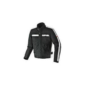 Spidi Symbol (noir et blanc) - Blouson de moto textile waterproof pour homme