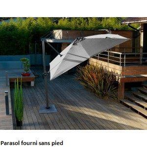 Parasol déporté carré 300 x 300 cm