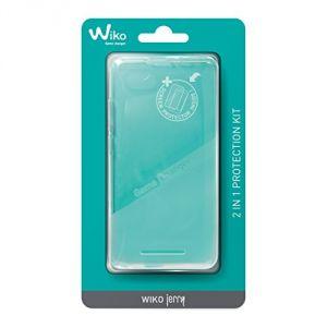 Wiko WIPAK0001 - Coque de protection + film protector pour Jerry