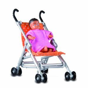 Lundby Poussette et bébé Smaland pour maison de poupée
