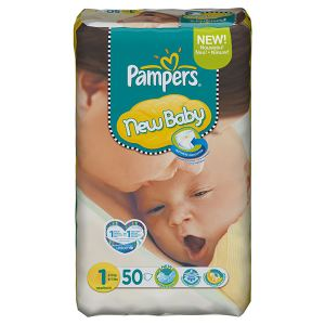Pampers New Baby taille 1 Newborn (2-5 kg) - 50 couches