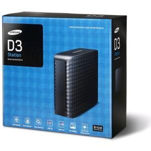 "Samsung HX-D201TDB - Disque dur externe D3 Station 2 To 3.5"" USB 3.0"