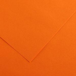Canson 200040046 - Feuille Iris Vivaldi 50x65 120g/m², coloris orange 9