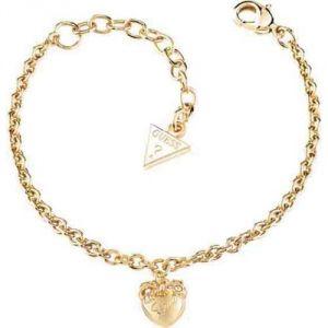 Guess UBB21571 - Bracelet Chainette Coeur pour femme en métal doré