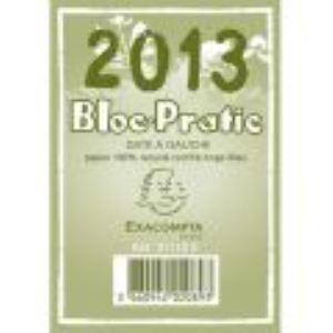 Exacompta Bloc ephemeride recycle date a gauche année 2012