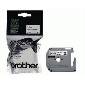 Brother MK221BZ - Ruban d'étiquettes blanc 9mm 8M