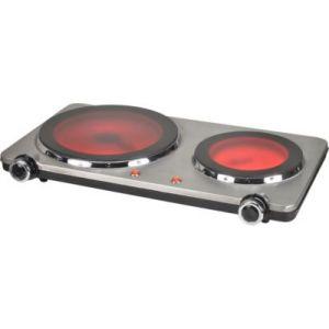 Kitchen Chef HP202-T10 - Plaque vitrocéramique 2 foyers