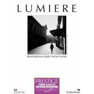 Lumiere LUM3100342 - Papier photo Prestige fibre baryté 50 feuilles A4