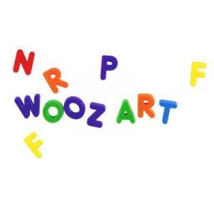 Wooz'art Blister lettres magnétiques (35 pièces)