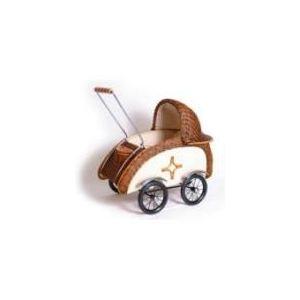 Legler 8756 - Landau de poupée «Rotin tressé rétro»